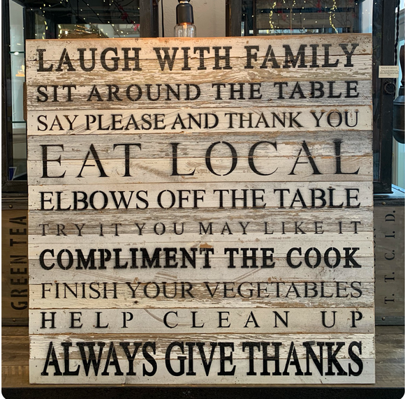 Website - Laugh With Family Reclaimed Wood Sign 28 x 28 SNBH