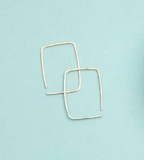 RK-F Small Square Threader Earrings (options)