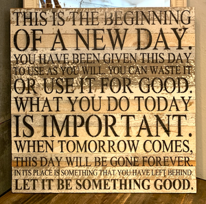 "Website - ""This is the Beginning"" Reclaimed Wood Sign 28 x 28 SNBH"