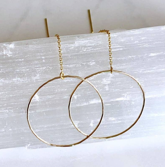 BBJ-F Modern Circle Threader Earrings