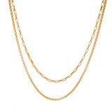 MJ-F Eden Layered Chain Necklace