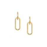 MJ-F Minimal Link Hoop Earrings