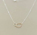 Brit-F Interlocking Teardrop Necklace