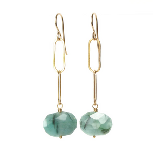 TD-F Natural Gemstone & 14kt Gold Filled Earrings