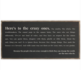 DDC-F 4x2' Here's To The Crazy Ones Framed Wood Sign