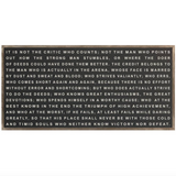 DDC-F 4x2' Man in the Arena Framed Wood Sign (color options)