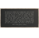 DDC-F 4x2' Tale of Two Wolves Framed Wood Sign (color options)