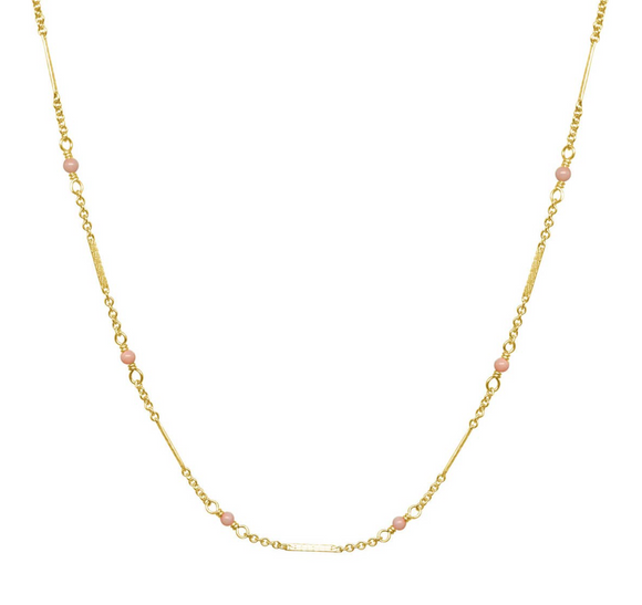BC-F 14kt GF Pink Coral Necklace