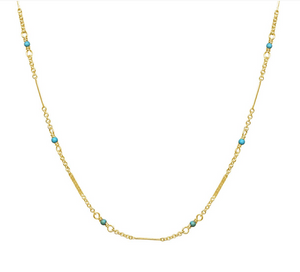 BC-F 14kt GF Turquoise Necklace