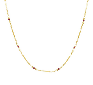 BC-F 14kt GF Ruby Necklace
