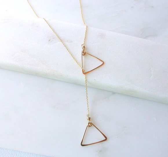 LTF Triangle Lariat Necklace (options)