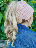 CC Beanie Tail Hat Messy Bun (color options)