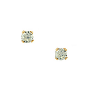 MJ-F Light Green CZ Stud Earrings
