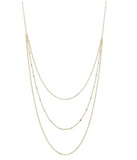 OFNA-F Triple Layer 2-Tone Ball Chain Necklace