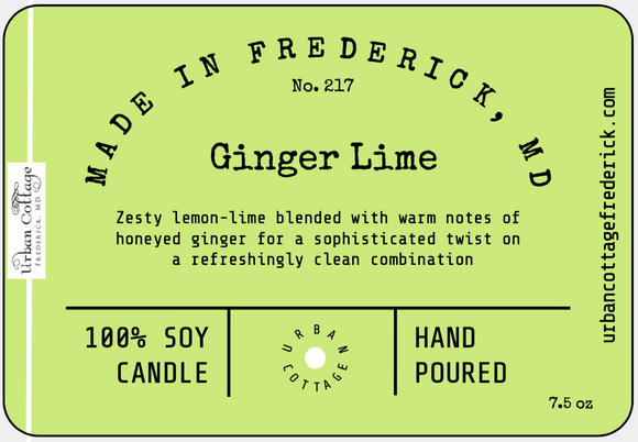 UC Candle - Ginger Lime