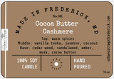 New!  UC Candle - Cocoa Butter Cashmere (options)