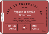UC Candle - Apples & Maple Bourbon - clear jar