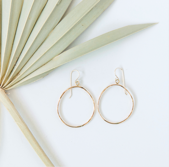 RK-F Organic Hoop Earrings (options)