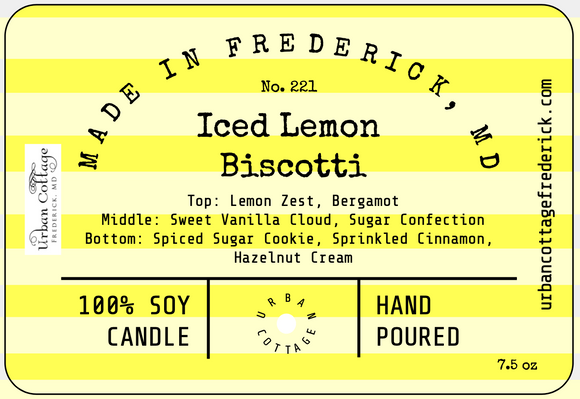 UC Candle - Iced Lemon Biscotti (options)