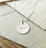"Maine Round ""Loved"" Necklace (options)"