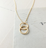 Maine - Intertwined Circles Drop Necklace (options)