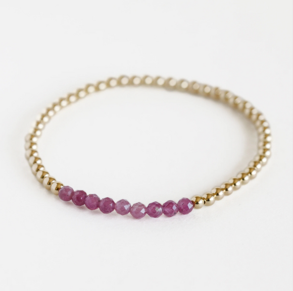 AGS-F Stacking Bracelet - Pink Tourmaline