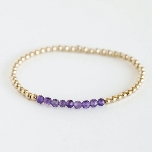 AGS-F Stacking Bracelet - Amethyst