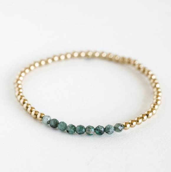 AGS-F Stacking Bracelet - Emerald