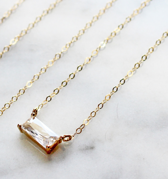 CEJ-F Baguette Necklace