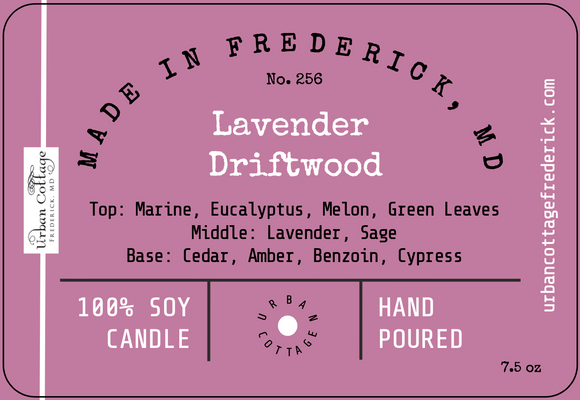 New!  UC Candle - Lavender Driftwood (options)
