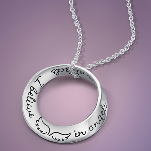 I believe in angels - sterling silver necklace