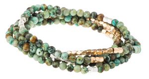 African Turquoise Long Stone Wrap - Stone of Transformation