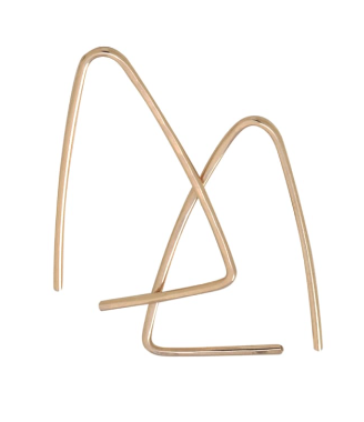 RK-F Large Triangle Threader Earrings (options)