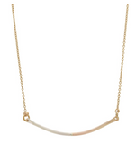 RK-F Two-Tone Bar Necklace