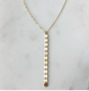 "WI-F 17"" Coin Y Necklace (options)"