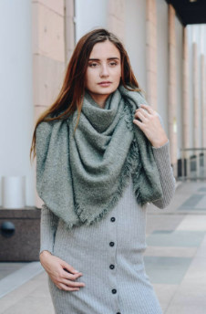Mohair Square Blanket Scarf (color options)