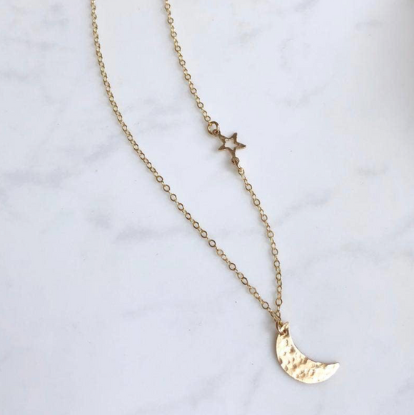 BBJ-F Moon & Stars Necklace