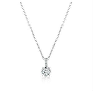 CZ Accented Brilliant Pendant