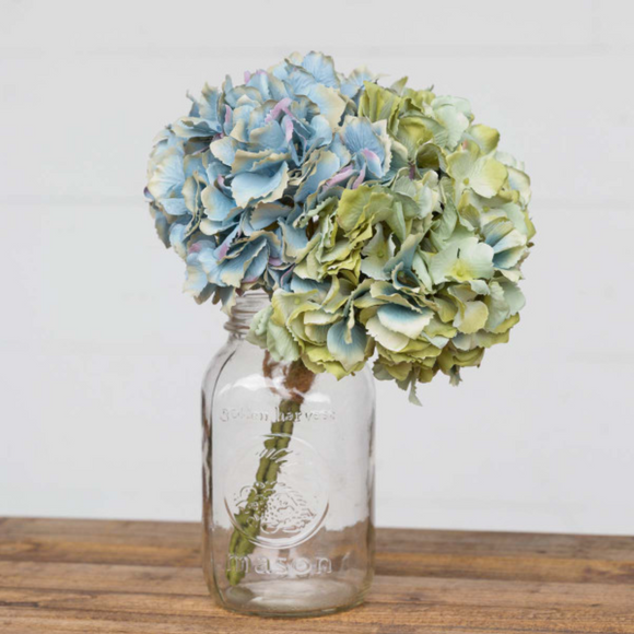 EBY82099 Bundle of 3 Hydrangea Blue/Green