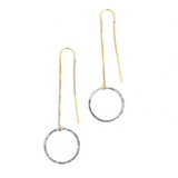 BBC-F Circle Threader Earrings (options)