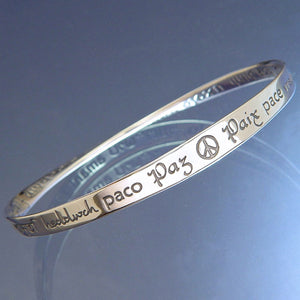 Mobius Bracelet - Peace in Forty Languages