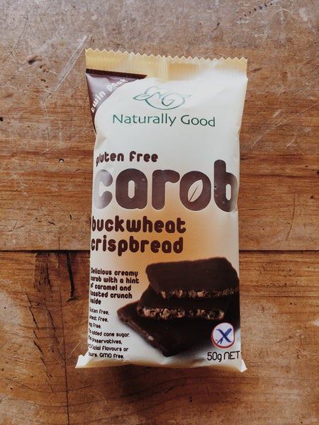Naturally Good Carob Buckwheat Crispbread | Soul Food Organic NZ