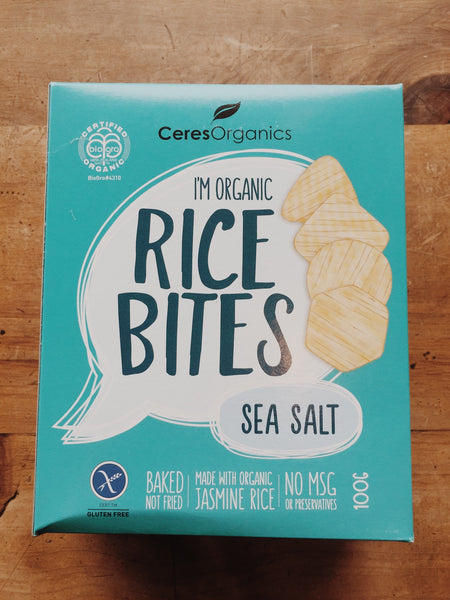 Ceres Organics Rice Bites Sea Salt | Ceres Organics NZ