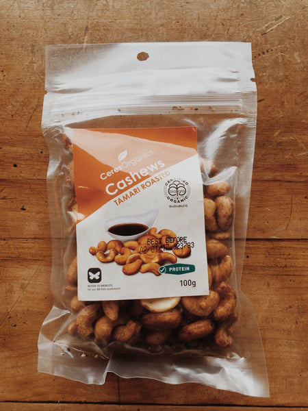 Ceres Organics Tamari Roasted Cashews | Buy online | Soul Food Organic NZ