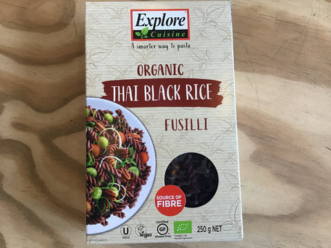 Black rice fusilli