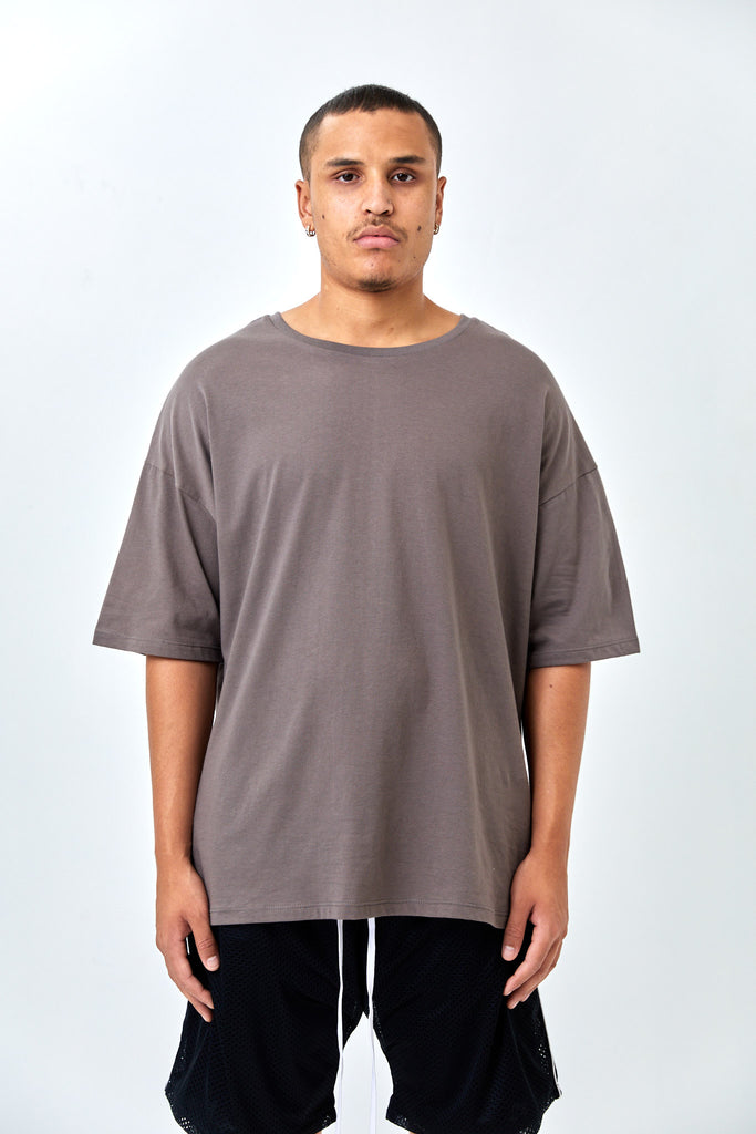 CORE SIGNATURE OVERSIZED T-SHIRT - TAUPE