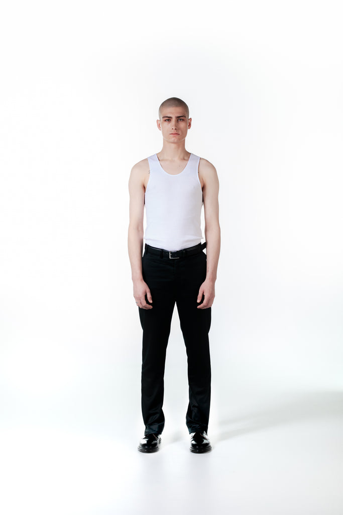 BLACK SPLIT TROUSER