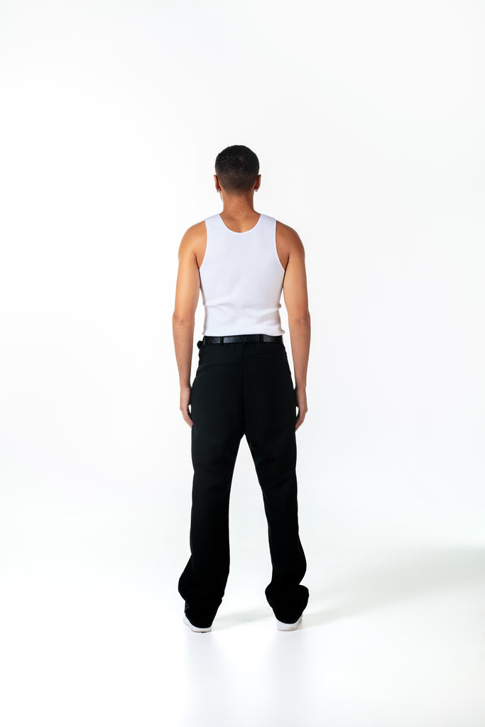 STACK TROUSER - BLACK