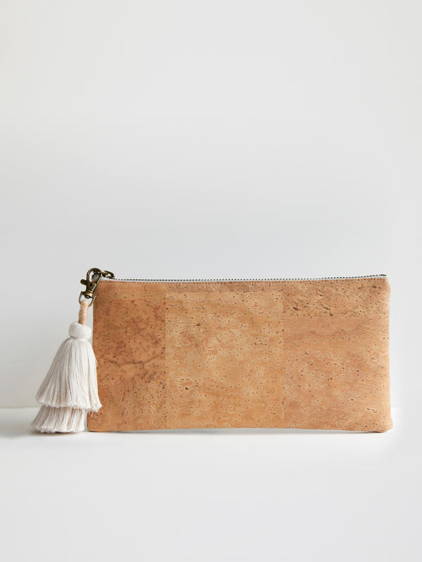 Monstera Linen clutch