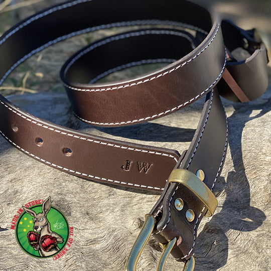 Custom made leather Pocket Knife Belt